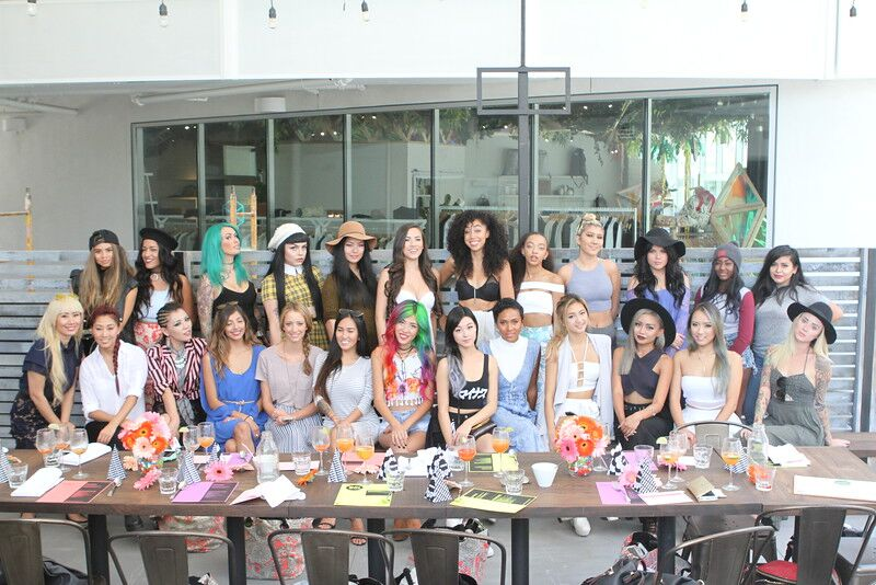 Amika Influencer Brunch with Hello Drama Pr Group Shot